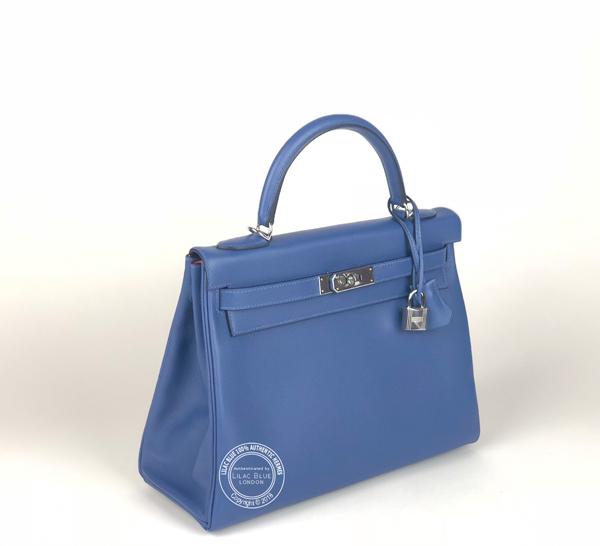 650c2c0df4c1 Hermes Kelly 32cm Bleu Brighton Capucine Verso Evercolor PHW - Lilac ...