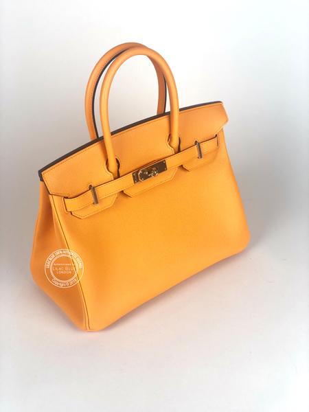 3c55ad23996 Hermes Birkin 30cm Jaune d Or Gold HSS Epsom Permabrass - Lilac Blue