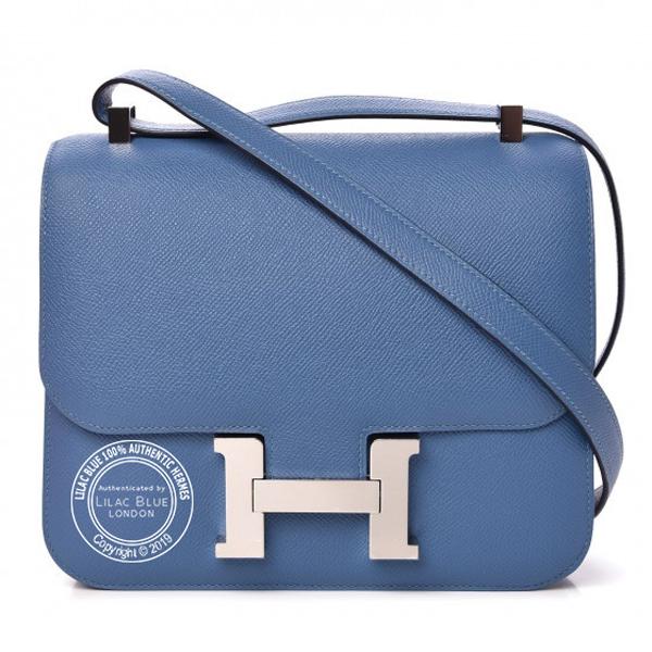 Hermes Constance 24cm Bleu Azur Epsom PHW